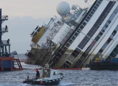 The Costa Concordia in 2013