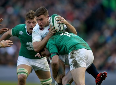 Sexton, right, flattened Ford during Ireland's win over England.