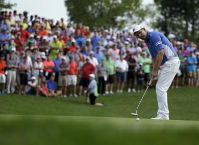 Harrington putting at the 2014 PGA Championship.