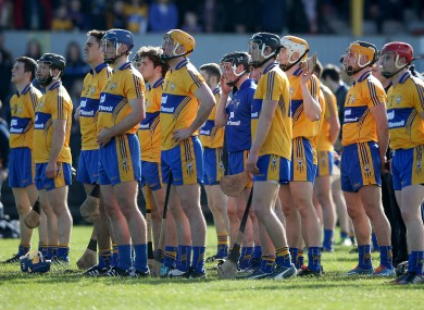 The Clare hurling team before last Saturday's clash against Dublin.