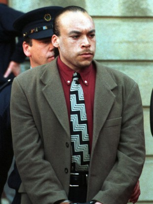 Mark Nash pictured in 1998 after being sentenced for the murder of the young Roscommon couple.