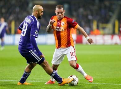 Sneijder has played in Turkey since 2013.