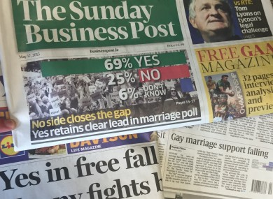 Same sex marriage and newspaper article
