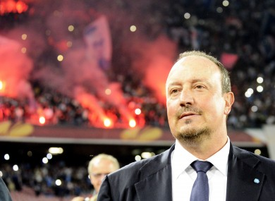 Benitez's contract with Napoli expires this summer.