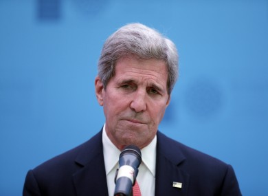 John Kerry has had a bit of an accident