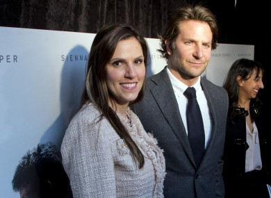 Taya Kyle with actor Bradley Cooper, who protrayed her husband in the movie American Sniper.