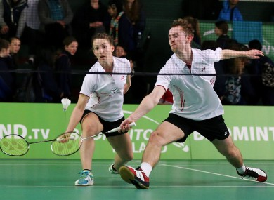 Ireland's Chloe Magee and brother Sam Magee in action.