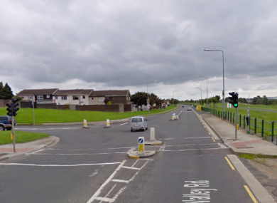 Tolka Valley Road, near where the incident occurred.