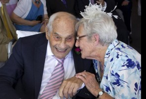 A British couple just became the world's oldest newlyweds