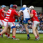 Shane Bennett gets his shot away as he leads Waterford to victory in their U21 Munster semi-final clash with Cork.