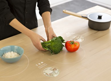 A workspace in Ikea's Concept Kitchen 2025