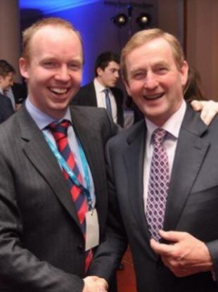 Noel Rock and Taoiseach Enda Kenny
