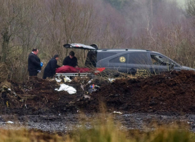 The body of Marie Greene after it was found.