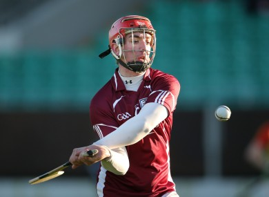 Free-scoring Shane Maloney is in a free-scoring Galway full-forward line.