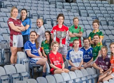 Westmeath skipper Jenny Rogers (far left) joins her fellow captains at the recent TG4 championship launch.