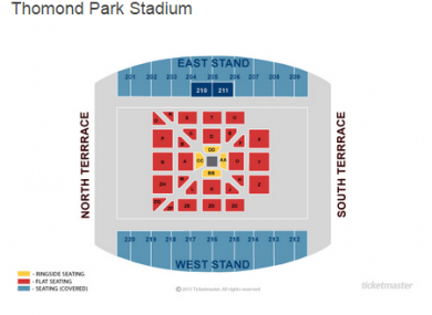 The layout in Thomond Park for Andy Lee's fight with Billy Joe Saunders.