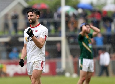 Tiernan McCann celebrates at the final whistle.