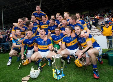 Tipperary's players celebrate Munster championship success.