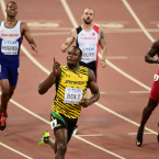 Usain Bolt storms to the second of three gold medals at the World Athletics Championships in Beijing.