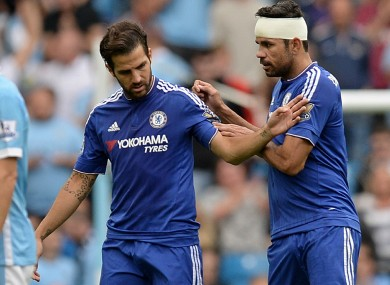 Fabregas has drawn criticism for his performance on Sunday.