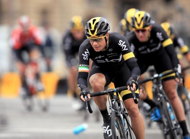 Team Sky's Nicolas Roche is currently third overall at the Vuelta.