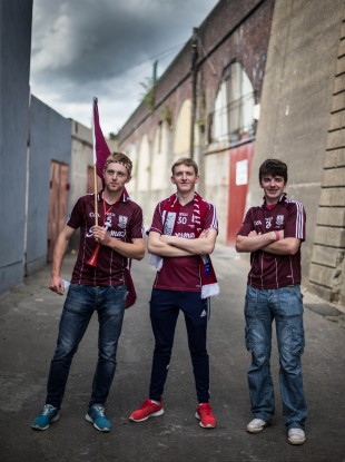 Galway fans Gary McHugo, Michael Fallon and Johnny Conroy - will they see their first All-Ireland win on 6 September?