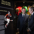 Jimmy Barry-Murphy and Jimmy Keaveney chat as they were inducted to the GAA Museum all of fame on Friday.
