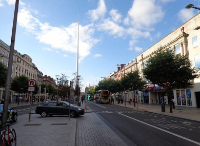 File photo: O'Connell Street in Dublin near to where one of the attacks happened
