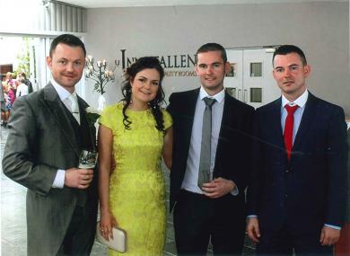 Karen with her brothers Brendan, Damien and Kieran.