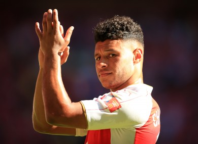 Alex Oxlade-Chamberlain was on target as Arsenal beat Chelsea at the weekend.