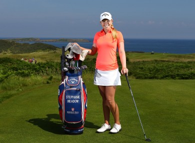 Stephanie Meadow is Ireland's only female professional currently on tour.