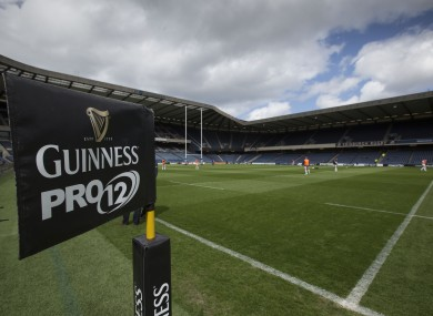 Murrayfield will be the venue for this year's Pro12 final.