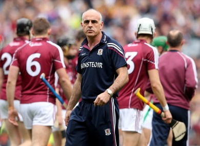 Galway senior hurling manager Anthony Cunningham.
