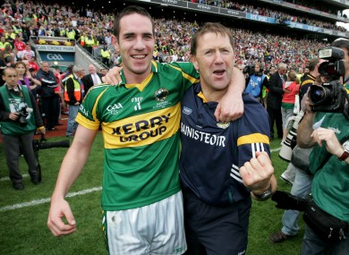 Declan O'Sullivan and Jack O'Connor celebrate All-Ireland senior glory in 2009.