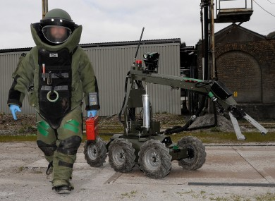 File image - Defence Forces bomb disposal unit.