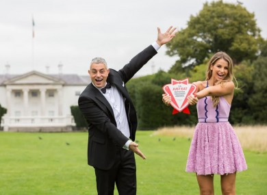 Baz Ashmawy and Vogue Williams at the launch of the Just Eat National Takeaway Awards