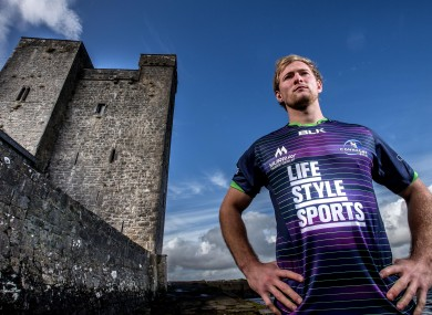 Kieran Marmion pictured at yesterday's launch of Connacht's new European Challenge Cup kit for this season, exclusive to Life Style Sports.