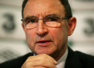 Martin O'Neill will name his squad for the games against Poland and Germany tomorrow.