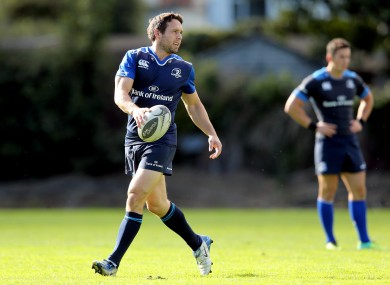 Boss was training with Leinster this afternoon.