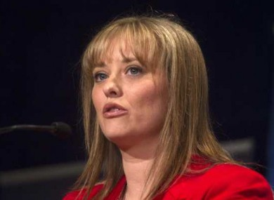 Mairia Cahill speaking at the Labour Party conference earlier this year