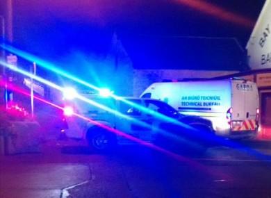 Members of the Garda Technical Bureau arriving at the scene tonight.