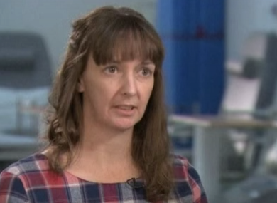 Pauline Cafferkey speaking to the media in January of this year after she was released from hospital.