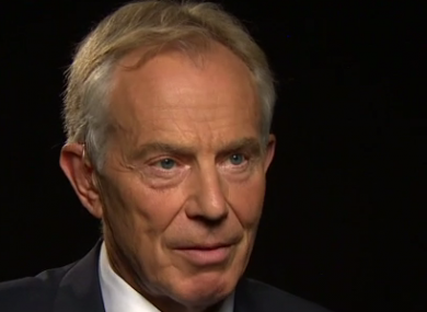 Blair was speaking to CNN's Fareed Zakaria.