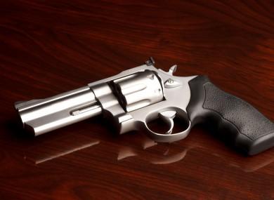 A .357 revolver.