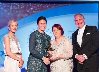 Gemma O'Connor receives her Allstar award on Saturday night.