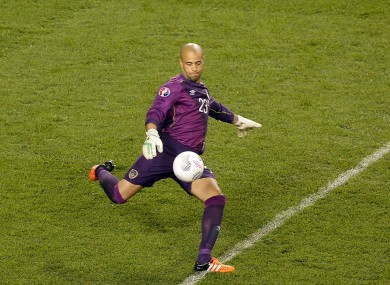 Darren Randolph provided the assist for the goal as Ireland secured a historic win against Germany last month.