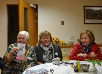 Babs, her daughter Catherine and Maeve at the Alzheimer's Café in Cabra