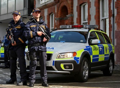 Armed gardai from the Eastern Region Armed Response Unit. (File)