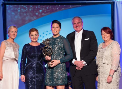 Gemma O'Connor with her award.