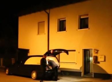 The scene in Wallenfels, Germany.